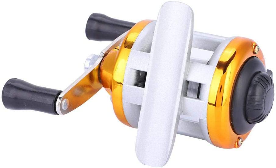 Gold Portable Winter Ice Fishing Reel Wheel With Wire Outdoor Casting Tackle