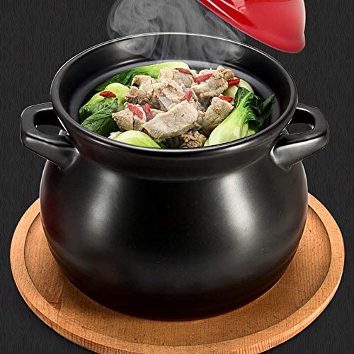 SHYOD Cuisinière à gaz Soupe spéciale Pot Casserole Cuisinière Accueil Batterie de Cuisine en céramique à Haute température Soupe Porridge Pot
