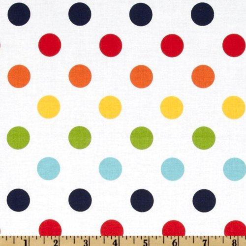 Riley Blake Designs Riley Blake Dots Medium Rainbow Fabric By The Yard