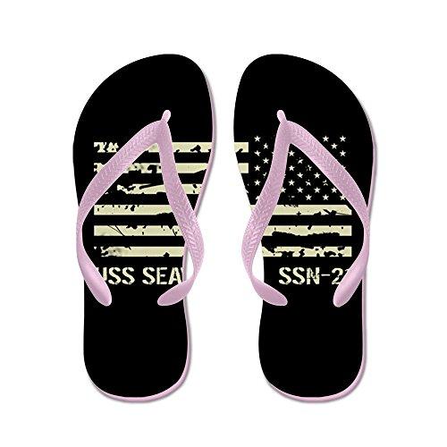 Cafepress Uss Seawolf - Infradito, Divertenti Sandali Infradito, Sandali Da Spiaggia Rosa