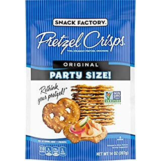 Snack Factory Pretzel Crisps Original Flavor, Large Party Size, 14 Oz