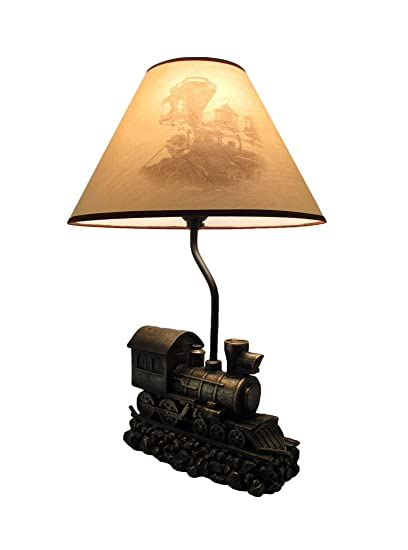 Resin table lamps light in the tunnel steam train engine table lamp resin table lamps light in the tunnel steam train engine table lamp with shade 13 x aloadofball Choice Image