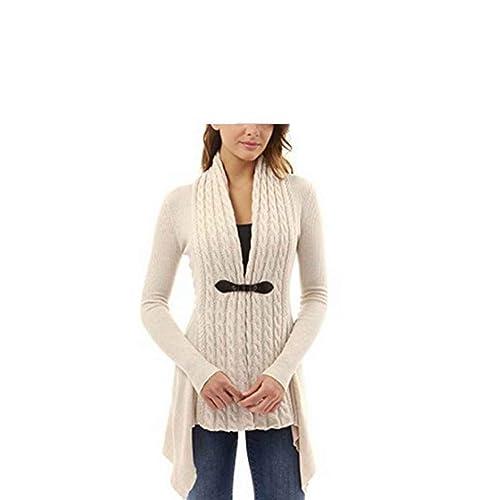 Masterein Las mujeres Twist tejieron los suéteres ocasionales de la manga larga del otoño del capa d...