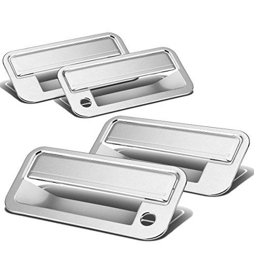 Chevy C/K Series/Tahoe/GMC Yukon 4pcs Exterior Door Handle Cover with Passenger Keyhole (Chrome)