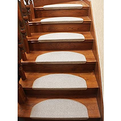 Superbe Qingbei Rina Beige Stair Tread Bullnose Carpet Non Slip Indoor Durable Mat Self  Adhesive Stair