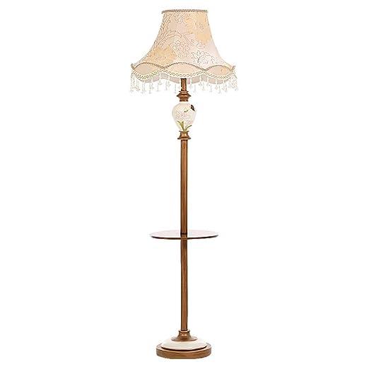 Ppy778 Lámpara de pie Retro con Bandeja para Sala de Estar: Amazon ...
