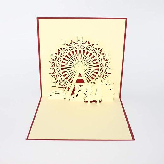 LIGHTBLUE - Tarjeta de felicitación 3D con diseño de flor de ...