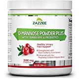 D-Mannose Powder Plus | 67 Servings | 6.5 Ounces | Fast-Acting Urinary Tract Infection Relief | Enhanced with Pure Cranberry Juice Extract | Plus 5 Billion CFU Probiotics | Vegetarian/Vegan For Sale
