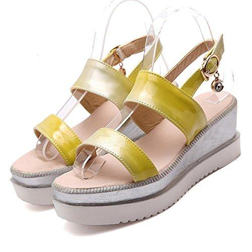 Sandales JOJONUNU Yellow Confort Plateforme Femmes qXnwPz1f