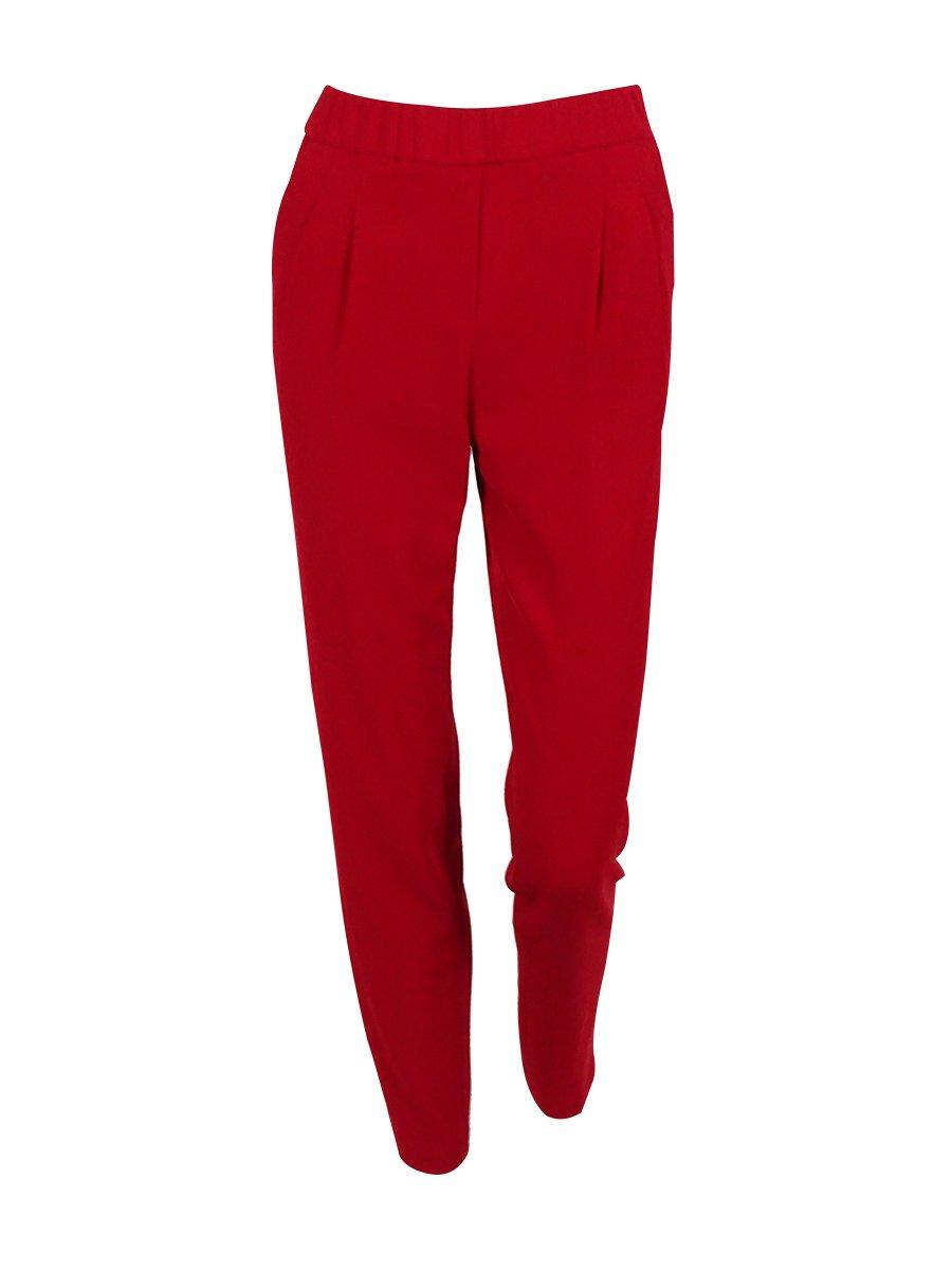 Calvin Klein Womens Petites Crepe Straight Leg Dress Pants Red 6P
