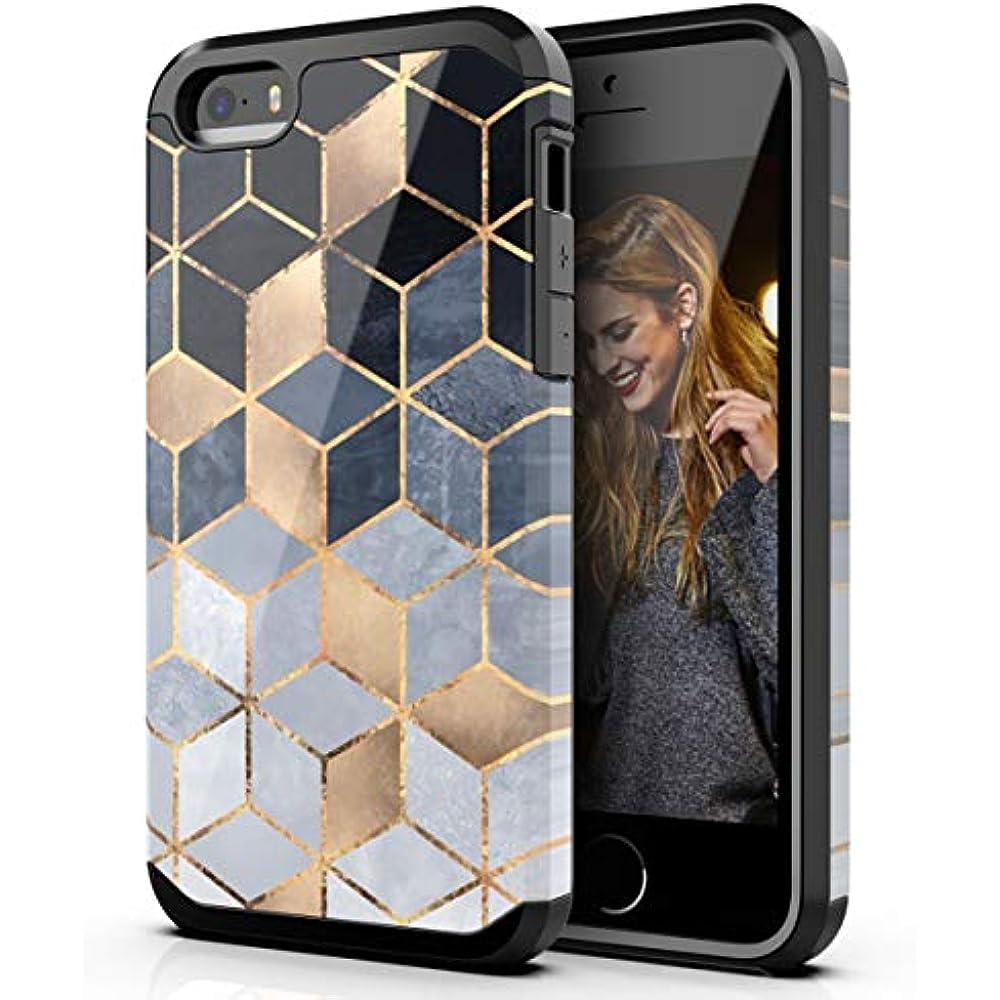 IPhone SE Case,iPhone 5 5s Case,Dual Layer Hybrid Bumper ...Iphone 5s Rubber Bumper