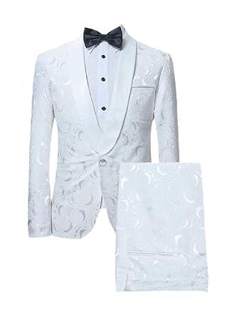 dahuo - Traje de Vestir para Hombre, Ajustado, Estampado de Flores ...