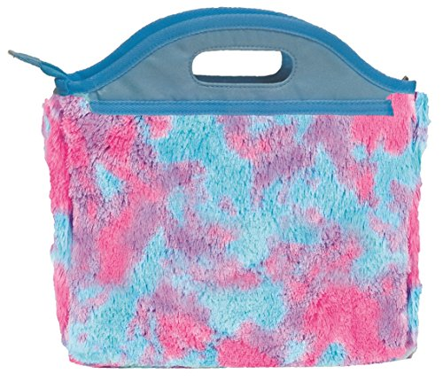 (iscream Sherbert Tie Dye Furry Fun Easy Carry Lined Insulated Lunch)