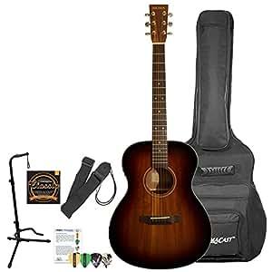 sigma guitars sf15eshb kit 2 acoustic electric guitar shadow burst kit 2 musical. Black Bedroom Furniture Sets. Home Design Ideas