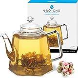 GROSCHE VIENNA Glass Infuser Teapot 1250 ml 42 fl. oz
