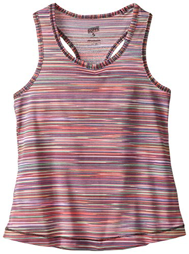 (Soffe Girls' Performance Racer Tank Top, Spring Space Dye, Small)
