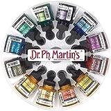 Dr. Ph. Martin's Iridescent Calligraphy Color Bottles, 1.0 oz, Set of 12 (Set 2)