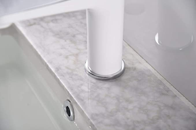 Lavabo ba/ño grifo moderno lavabo cromo /único lavabo s/ólido lat/ón caliente y fr/ío blanco 28,6 x 25,4 x 7,8 cm