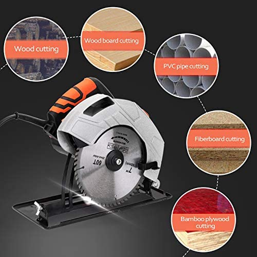 Tickas 7 Inch Electric Circular Saw Household Aluminum Body Portable Woodworking Electric Saw Table Saw Electric Saw Machine Flip Power Disk Saws,Electric Circular Saw