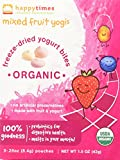 Happy Baby Organic Yogis Freeze-Dried Yogurt & Fruit Snacks Mixed Fruit, 5 Count Box of 0.28 Ounce Pouches Organic Gluten-Free Easy to Chew Probiotic Snacks for Babies & Toddlers