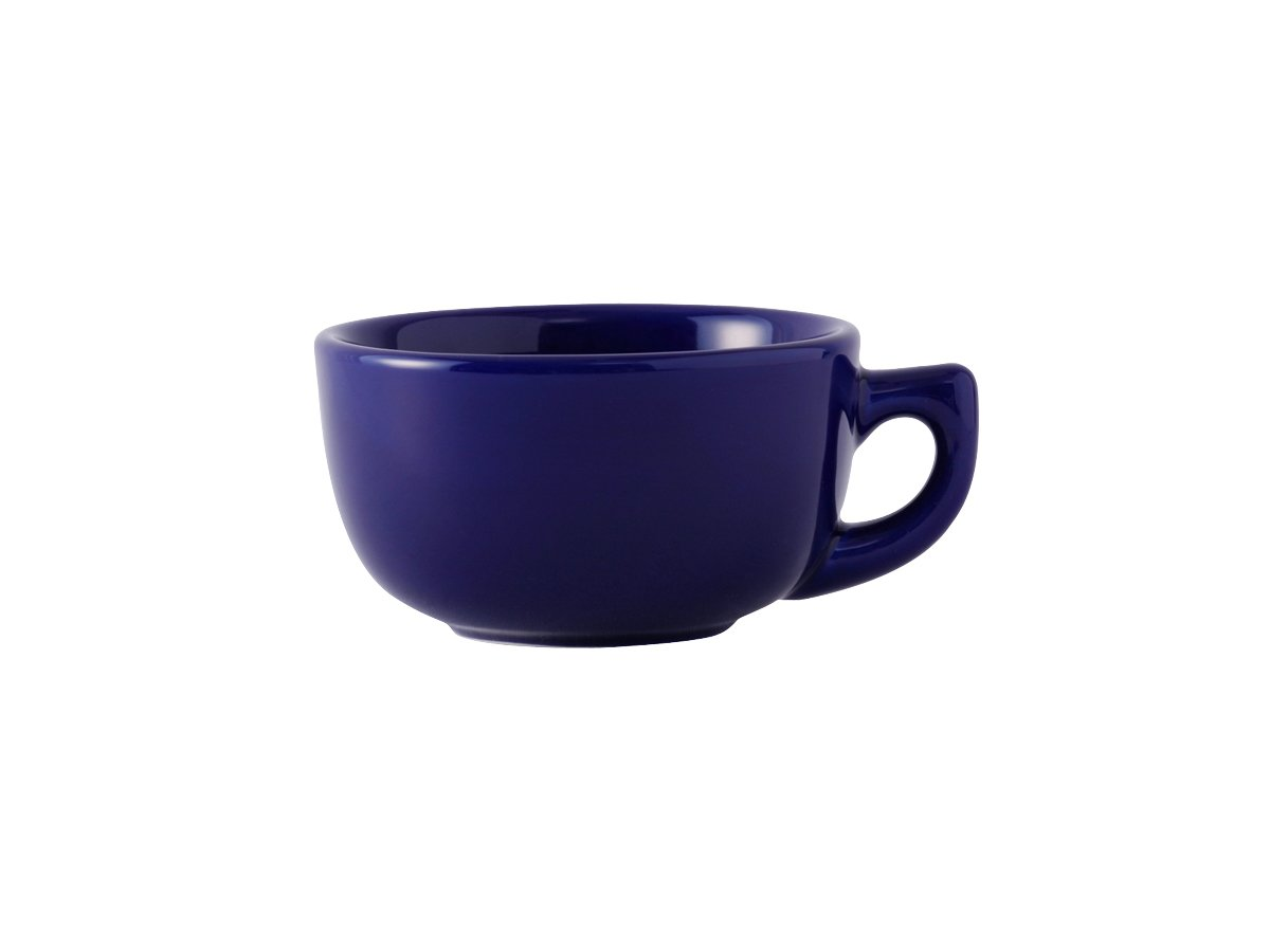 Tuxton BCF-1402 Vitrified China Cappuccino Cup, 14 oz, Cobalt (Pack of 24), Oven-Microwave-Pressure Cooker Safe; Freezer to Oven Safe