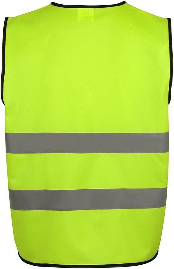Arancione #A Jogging Corsa Gilet di Sicurezza Riflettente Unisex con Cerniera Per Moto Equitazione Aesy Gilet di Sicurezza ad Alta Visibilit/à con Tasche Ciclismo
