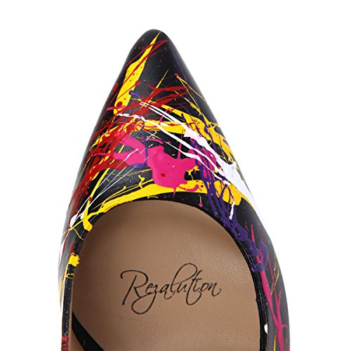 Rezalution by Janiko Color Instinct XBR009 Femmes High-Heels Noir/Multicolore