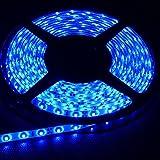 300 blue lights - FAVOLCANO Blue 16.4 Feet 5M SMD 3528 300 Leds Flexible Lighting IP65 Waterproof 60led/M Led Light Strip ,LED Tape ,60Leds/M ,DC12V