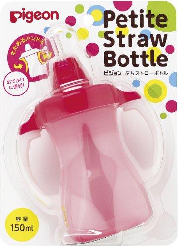 Pigeon Petit Straw Bottle Milkey Strawberry 150mL by Erwinsh