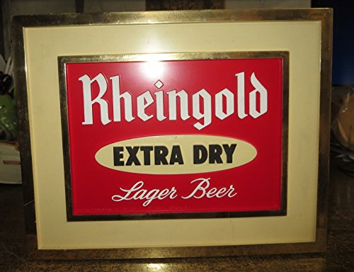 RHEINGOLD BEER BARTOP SIGN/COASTER HOLDER/BAR-TOOL HOLDER. VERY RARE w/coasters (The Coasters The Very Best Of The Coasters)