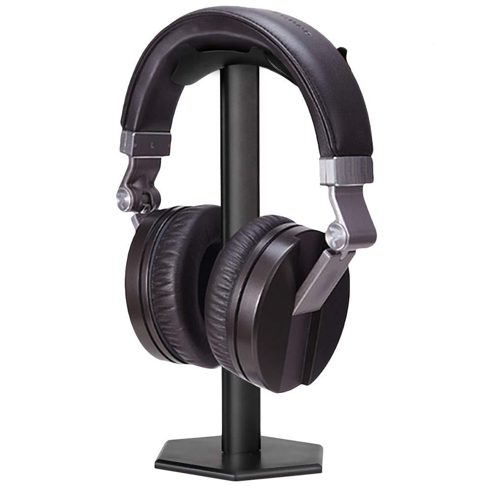 Soporte para auriculares, minkle universal Soporte para auriculares para over Ear Auriculares, de aluminio + TPU + ABS, color negro: Amazon.es: Electrónica