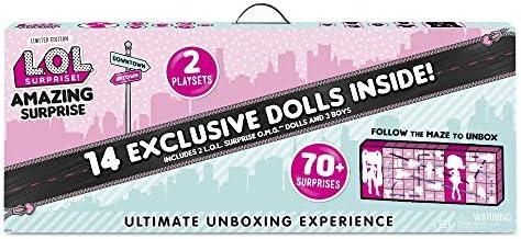 L.O.L. Surprise! Amazing Surprise with 14 Dolls, 70+ Surprises & 2 Playset