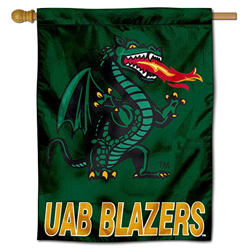 Uab Blazers Logo - College Flags and Banners Co. UAB Blazers House Flag