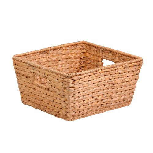 Honey-Can-Do STO-02885 Tall Water Hyacinth Basket Bin, Large, 15 L x 15 W x 8 (Banana Leaf Basket)