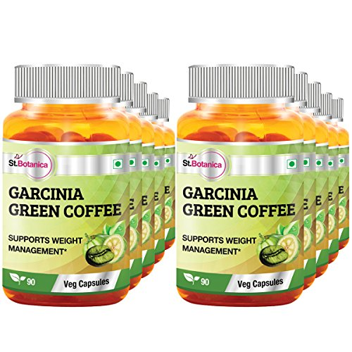 St.Botanica Garcinia Green Coffee Bean Extract – 90 Veg Caps- Pack Of 10 For Sale