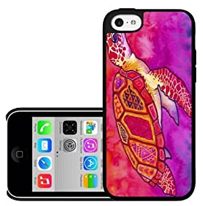 Pink Sea Turtle Hard Snap On Case (iPhone 5c)