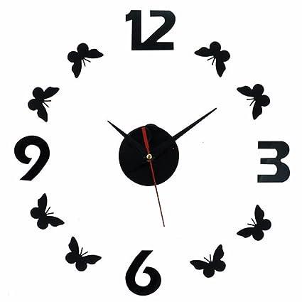 WERLM Diseño de personalidad a la decoración del hogar Reloj de pared Reloj de arte de ...