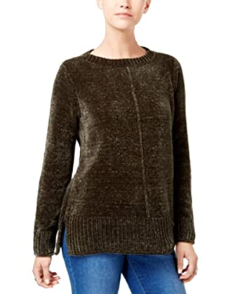 fec3ab180106 Style   Co. Crew-Neck Chenille Sweater (Dark Ivy