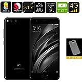 Xiaomi Mi6 Android Phone - 6GB RAM, Snapdragon CPU, NFC, Fingerprint Scanner, 4G, Dual Rear Camera, Quick Charge (Black)