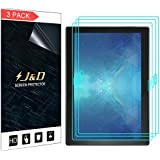 J&D Compatible for 3-Pack Lenovo Tab 4 10 Plus Screen Protector, [Not Full Coverage] Premium HD Clear Film Shield Screen Protector for Lenovo Tab 4 10 Plus Crystal Clear Screen Protector