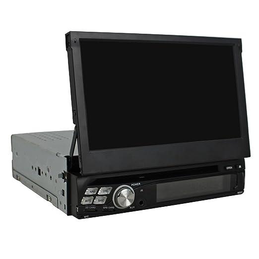 autosunshine 1 DIN pantalla táctil de 7 pulgadas Android 5.1 coche reproductor de DVD con Radio de navegación GPS Bluetooth OBD TV Ipod, DVR, MP3, USB, SD, ...
