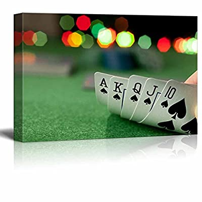Poker Straight Flush In Casino - Canvas Art