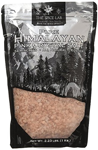 (The Spice Lab Pink Himalayan Salt Coarse - 2.2 Lb / 1 Kilo Pure Gourmet Crystals - PACKED IN USA Nutrient and Mineral Dense - Kosher and Natural Certified)