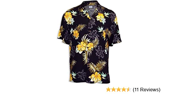 359702a4c Yellow Hibiscus Hawaiian Shirt at Amazon Men's Clothing store: Button Down  Shirts