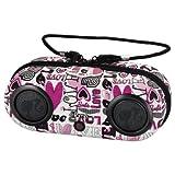 KIDdesigns, Inc Barbie iHome MP3 Portable Water-Resistant Stereo Sport Case