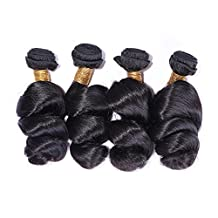 JF® Curtains made by Indian Virgin hair loose wave human hair , 10inch