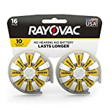 RAYOVAC Size 10 Hearing Aid Batteries, 16-Pack