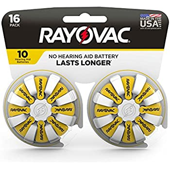 Rayovac Hearing Aid Batteries Size 10 for Advanced Hearing Aid Devices (16 Count)