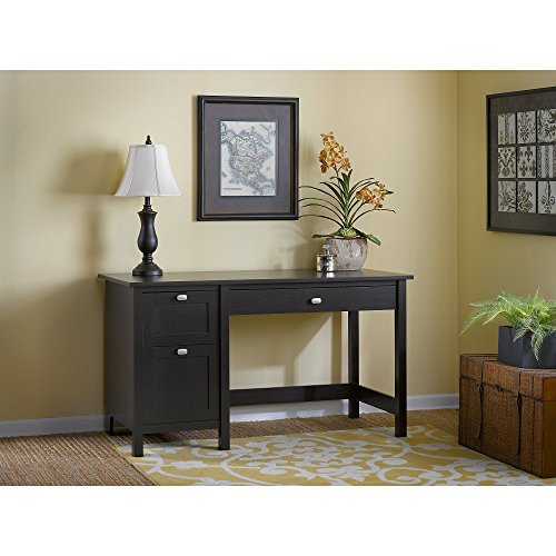 Bush Furniture Broadview Computer Desk with Drawers in Espresso Oak (Desks Espresso)