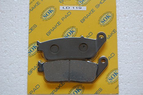 REAR BRAKE PADS for HONDA FJS 400 600 Silver Wing, 2002-2015 FJS400, 2001-2015 FJS600 FSC600 (LD119) ()